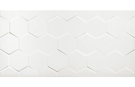 Netto Wall White hexagon 60x30